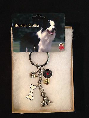 Border Collie Keychain By Little Gifts~❤️Great For Dog Lovers❤️