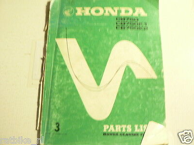 Honda Cb750 K0 And K1,K2 Part List No 3 1976 Motorcycle