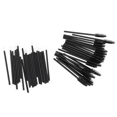 50x Disposable Lip Lipstick Gloss Applicator Mascara Wand Brush Makeup Tool