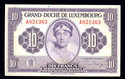 10 Francs   ~~  P-43  ~~  Luxembourg Bank Note (448-101)