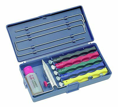 New Lansky Lkclx Ls2 Deluxe 5 Stone Knife Sharpener System Sale With Case