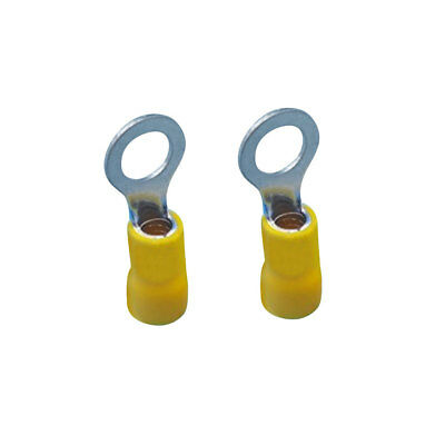 50pcs Yellow Insulated Crimp Terminals Connectors 12-10AWG Cable