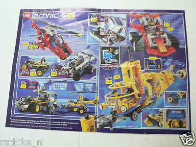 Lego Technic Poster Catalogue Vintage Instructions Lot 599