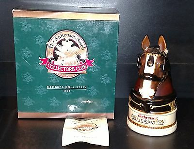 Anheuser Busch Budweiser Collectors Club 1996 King A Regal Spirit Stein