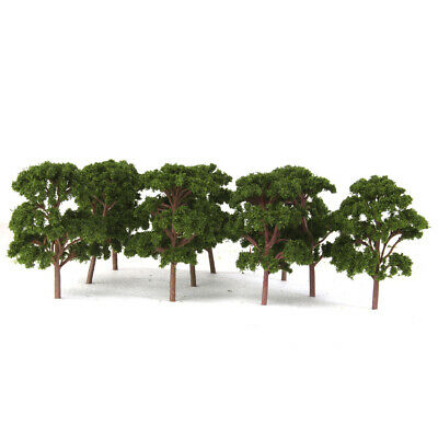 10x Dark Green Model Banyan Trees Train Garden Park Scenery 1:75 Layout 12cm