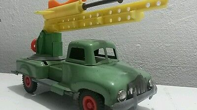 VINTAGE TOY FRICTION 1950's TRUCK ROCKET LAUNCHER CARRIER MILITARY USSR RUSSIA