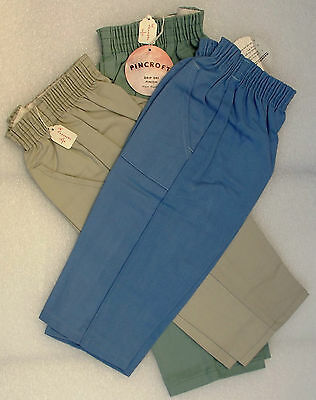 Vintage childrens clothes 1950s Green trousers UNUSED PINCROFT drip dry Boy Girl