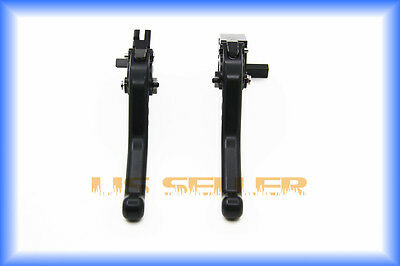 Motorcycle Brake Clutch Shorty Levers For Yamaha 2009-2014 YZF R1 Black