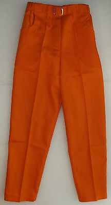 Vintage 1960s girls jeans UNUSED childrens hippie trousers Age 8 years orange