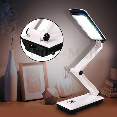 Foldable 22 LED Touch Control Lamp Rechargable Reading Table Desk Light Gifts