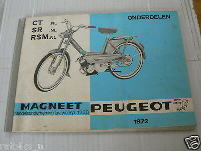 Peugeot Ct,Cr,Rsm Nl Onderdelen Part List Dutch 1972 Moped Factory  Pc16