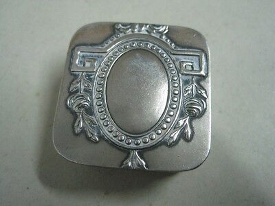 Antique small pill box in metal