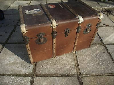 Vintage Luggage Trunk complete with original labels