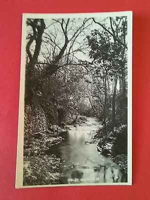 Rp River In Colby Glen Isle Of Man Real Photo Manx I.o.m. Postcard