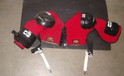 BLACKHAWKS/COYOTES Jeremy Roenick used 1990s Easton shoulder pads (VG condition)