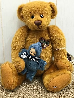 GANZ Cottage Collectibles Jointed Teddy Bear 50th Anniversary 1999 Old Friend