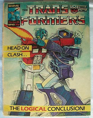 Transformers UK Comic Issue 40 December 1985