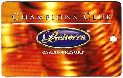 BELTERRA hotel casino resort* CHAMPIONS CLUB *Vintage BLANK~LV slot/players card