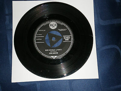 "Don Gibson - Give Myself A Party - 1958 Rca 7"" Single - Country Gem - Exc."