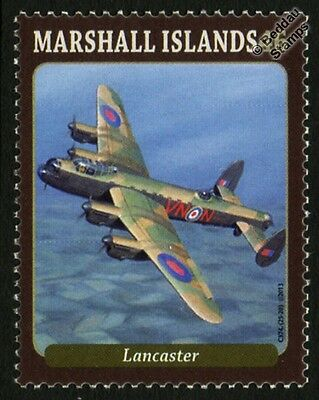 RAF AVRO LANCASTER VN-N of 50 Squadron WWII Bomber Aircraft Mint Stamp (2013)