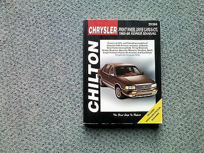 Chiltons repair manual covering Chrysler FWD 6-cyl cars 1988-95.
