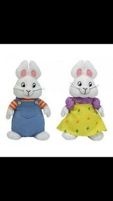 Brand New With Tags Max And Ruby Set TY Beanie Babies 11 Inch