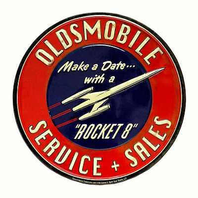 Oldsmobile Service Metal Tin Sign Classic Vintage Collectible   (No Sales Tax)