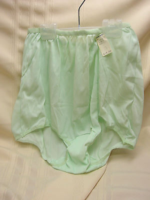 Vintage Ladiies Panties Green Pam Undies Size 7