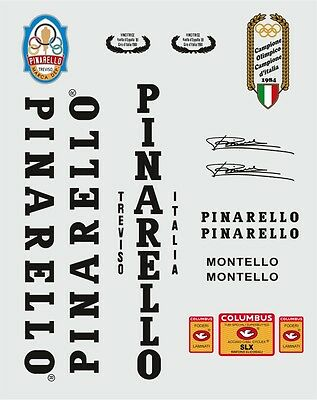 Pinarello Montello Frame Decal Set Black