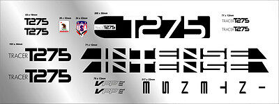INTENSE TRACER T275 CUSTOM MADE FRAME DECAL SET black