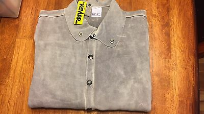 Leather Welding Jacket 100% Cow Hide Cowhide New Size S Sm Small Inside Pocket