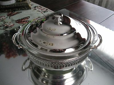 Quality! Antique/vintage Complete   Reticulated Silver Plate   Serving Dish Bowl