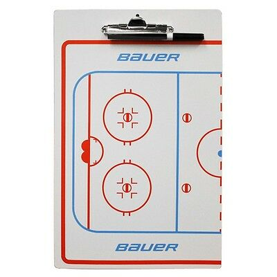 "NEW Bauer Hockey Coaches Dry Erase 2 Sided Board Clipboard 10""x16"" w Marker"