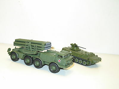 2 chars 1/72,  char MT LBM + camion OURAGAN missiles,  militaire russie