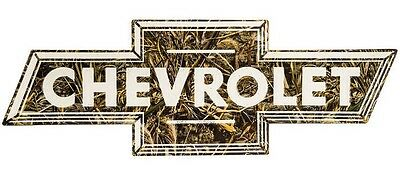 Limited Edition CHEVY CAMOUFLAGE MAN CAVE METAL SIGN Realtree CHEVROLET CAMO