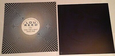 LOU REED Set The Twilight Reeling 1996 (2) 2-Sided Promo Poster Photo Flat Flats