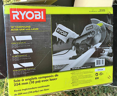 """Ryobi TS1345L 10"""" Compound Miter Saw with Laser Line pre-owned #1007"""