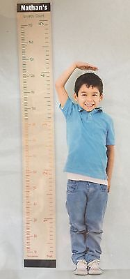 Personalized Canvas Growth Chart Wall Hanging Any Name Track Child's Growth