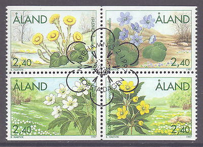 ALAND 1997 stamps Spring Flowers fine used (CTO)