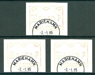 ALAND 1985 stamps FRAMA Labels 'Old' Posthorn Security Print fine used (CTO)
