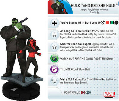 Marvel HeroClix HULK AND RED SHE-HULK #M-016 LE **Convention Exclusive** RARE!