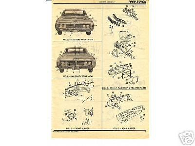 1971 1972 Plymouth Satellite Gtx 71 72 Body Parts List Crash Sheets ~