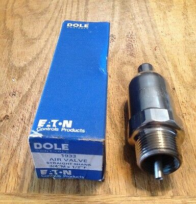 "Eaton Dole Controls 1933 Straight Shank Air Valve 3/4"" Male x 1/2"" Female"