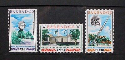 BARBADOS 1968 World Meteorological Day. Set of 3. Mint Never Hinged. SG372/374.