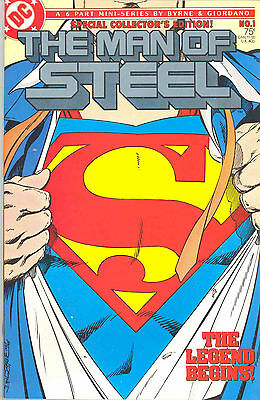 Dc Comics - Man Of Steel (By John Byrne) 1986 Issues 1-6 Complete Series