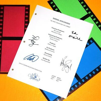 Married With Children Signed Script Rpt Ed O'neill, Katey Sagal, Christina A.