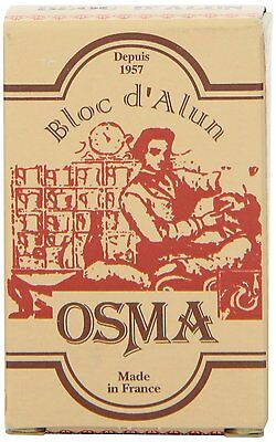 OSMA Alum Bloc | 75g block | Stem Bleeding Nicks | Soothes Irritation | Styptic