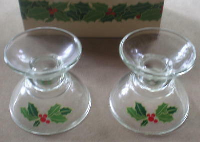 AVON Holiday Hostess Collection Holiday CandleSticks...unused, still in orig box