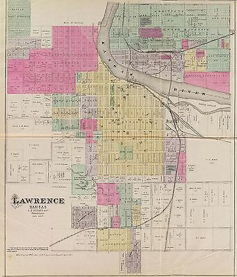 1887 OFFICIAL KANSAS STATE ATLAS 481 old maps history land owners  DVD A40