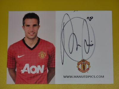 Manchester United Signed ROBIN VAN PERSIE Official Club Card Autocard